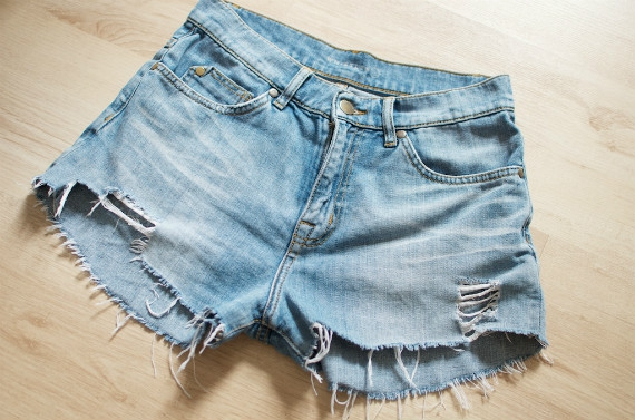 Denim cut-offs (home-made) - Camping outfit