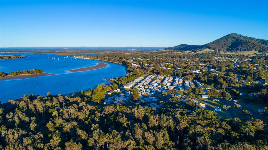 Ariel view of Holiday Haven Shoalhaven Heads