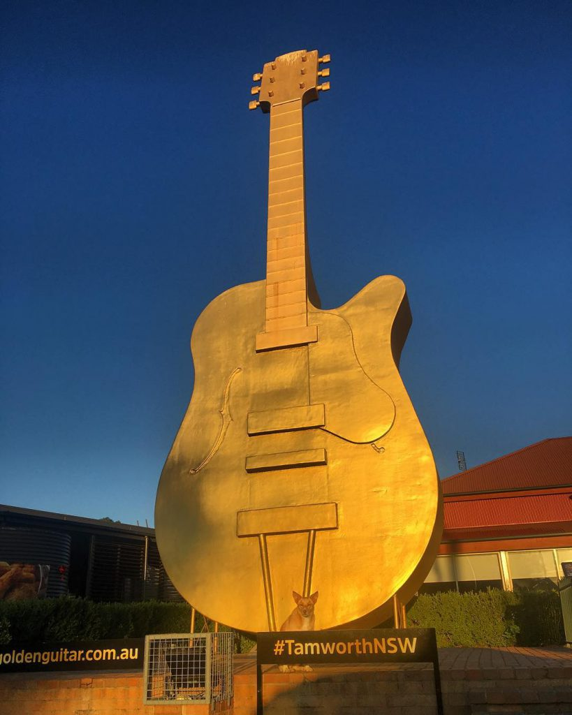 The Big Golden Guitar in Tamworth