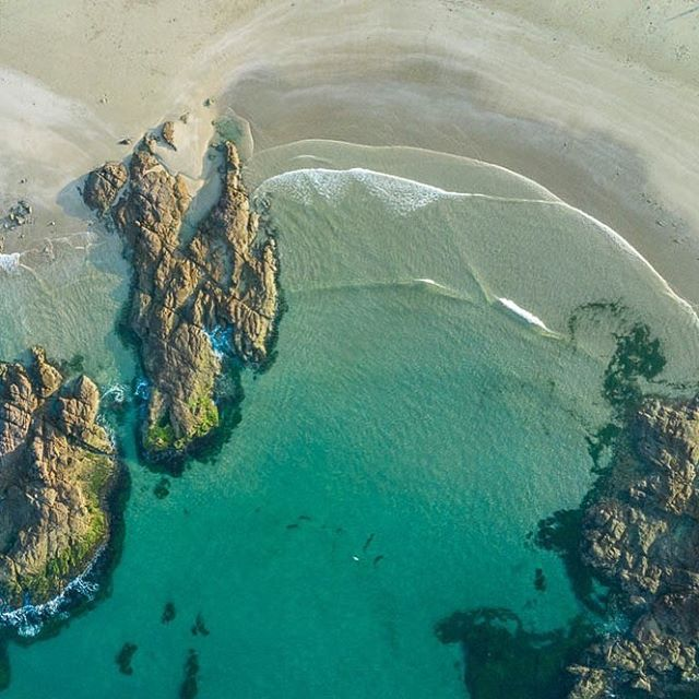Ariel shot of beach