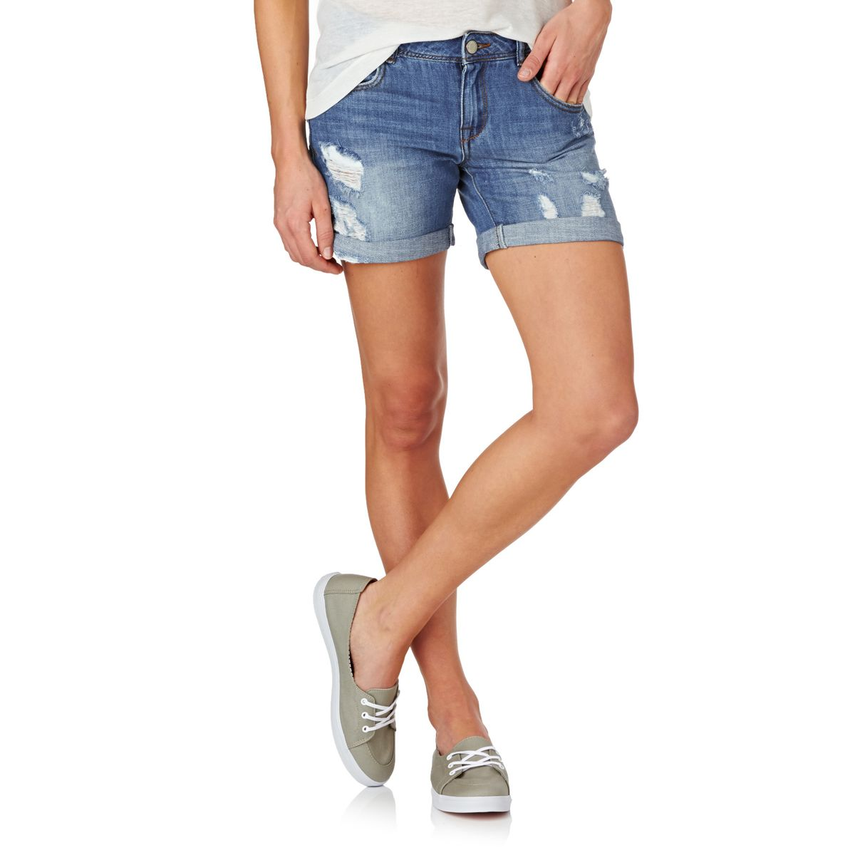 Superdry Steph Boyfriend Shorts - Camping outfit